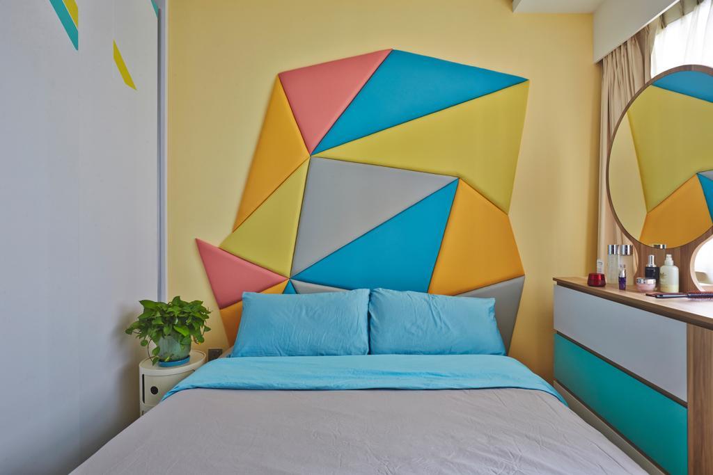 Eclectic, Condo, Bedroom, Riversails, Interior Designer, Free Space Intent, Flora, Jar, Plant, Potted Plant, Pottery, Vase