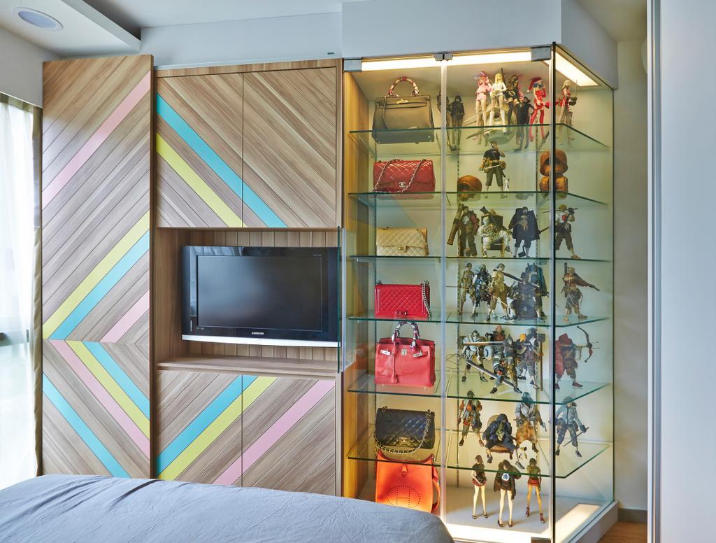 Eclectic, Condo, Bedroom, Riversails, Interior Designer, Free Space Intent, Collage, Poster