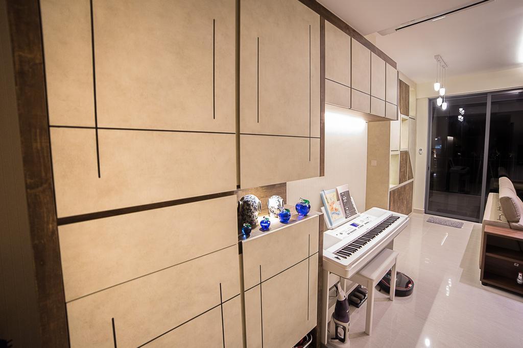 Modern, HDB, Living Room, La Fiesta, Interior Designer, MET Interior