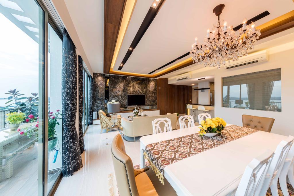 Modern, Condo, Dining Room, Ripple Bay, Interior Designer, Ciseern, Transitional, Indoors, Interior Design, Room