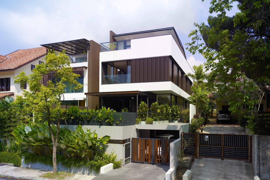 Lim House, TOPOS Design Studio, Modern, Landed, Exterior View, Architecture, Balcony, Building, House, Housing, Villa