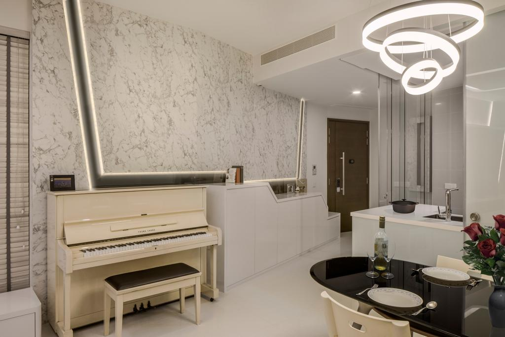 Modern, Condo, Living Room, 3 Leedon Height, Interior Designer, De Style Interior, Contemporary