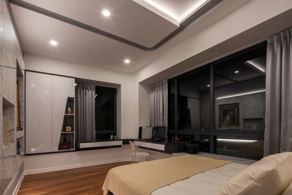 Modern, Condo, Bedroom, 3 Leedon Height, Interior Designer, De Style Interior, Contemporary, Lighting, Indoors, Room, HDB, Building, Housing, Loft, Interior Design