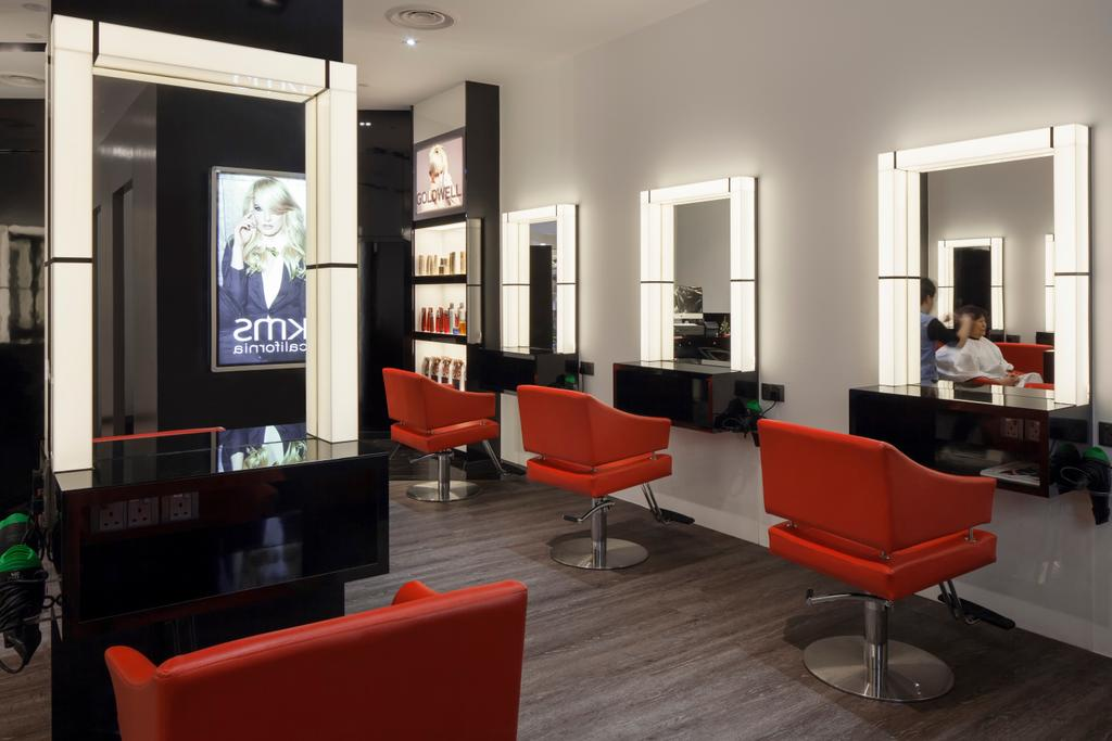 Pure Trim Hair Studio, Commercial, Interior Designer, De Style Interior, Contemporary, Chair, Furniture, Couch, Kiosk, Indoors, Room, Interior Design, Living Room