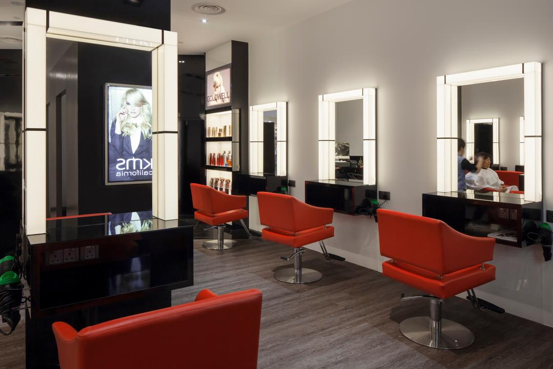 Pure Trim Hair Studio, De Style Interior, Contemporary, Commercial, Chair, Furniture, Couch, Kiosk, Indoors, Room, Interior Design, Living Room