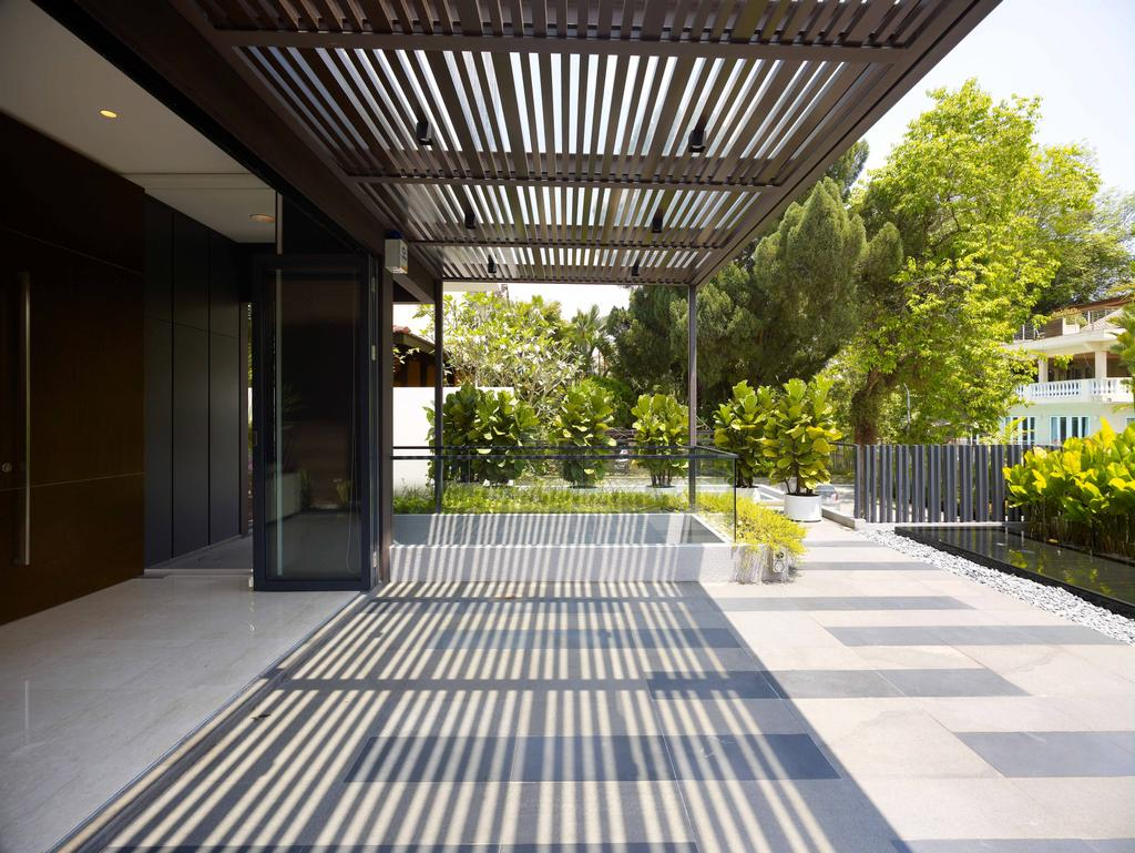 Modern, Landed, Lim House, Architect, TOPOS Design Studio, Plants, Trees, Shelter, Path, Walkway, Corridor, Flora, Jar, Plant, Potted Plant, Pottery, Vase