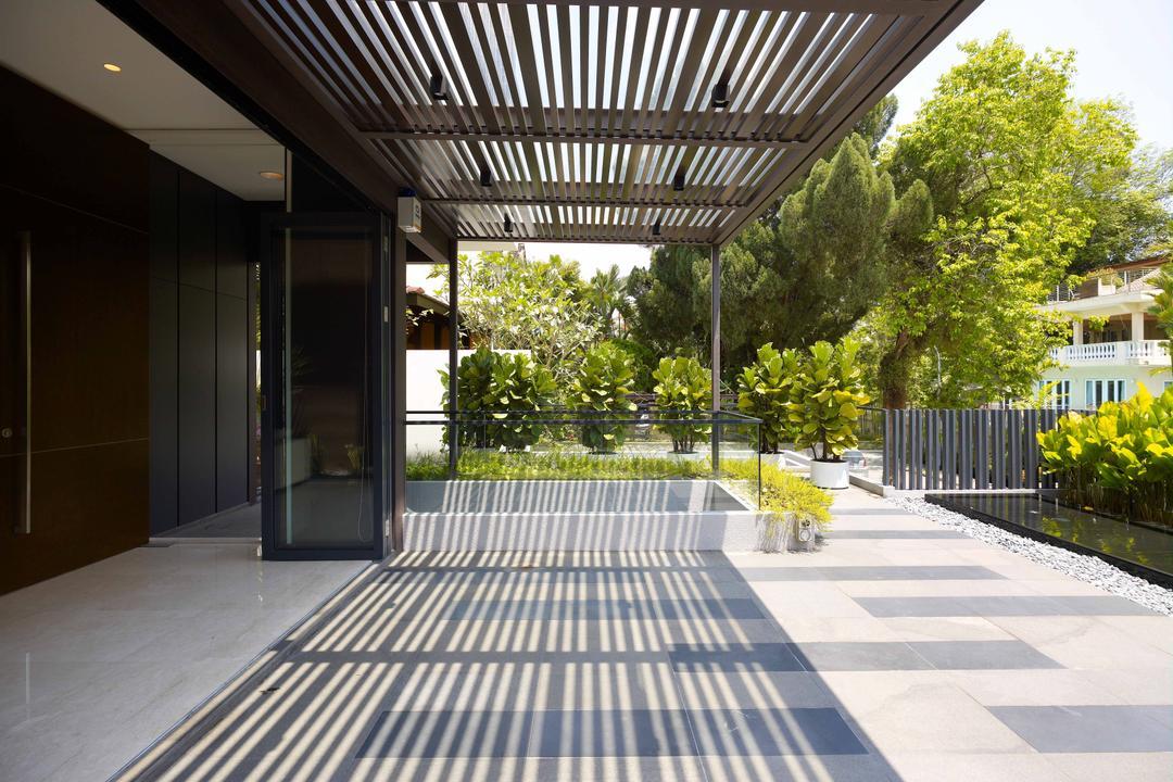 Lim House, TOPOS Design Studio, Modern, Landed, Plants, Trees, Shelter, Path, Walkway, Corridor, Flora, Jar, Plant, Potted Plant, Pottery, Vase