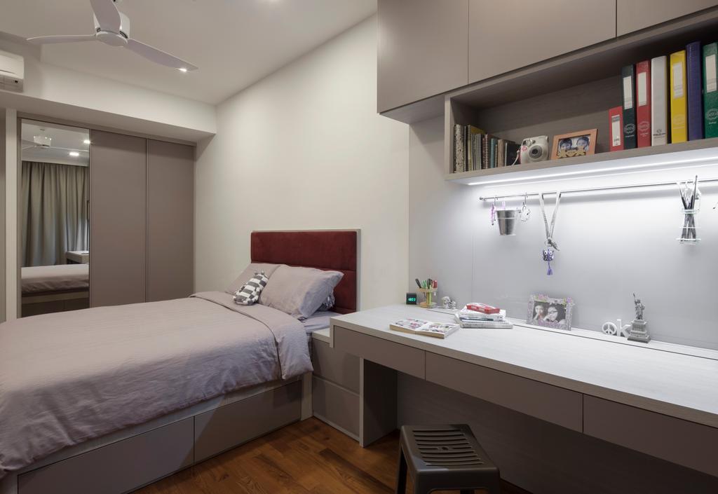 Contemporary, Landed, Bedroom, Jalan Jambu Mawar, Interior Designer, De Style Interior, Bed, Furniture
