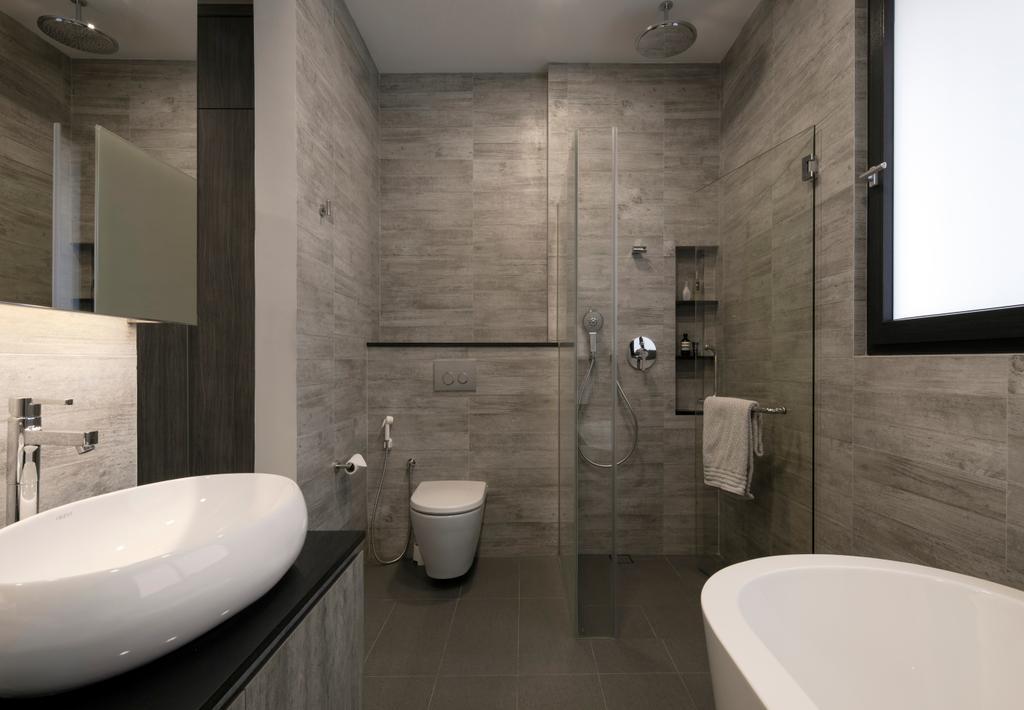 Contemporary, Landed, Bathroom, Jalan Jambu Mawar, Interior Designer, De Style Interior, Indoors, Interior Design, Room, Toilet, Sink