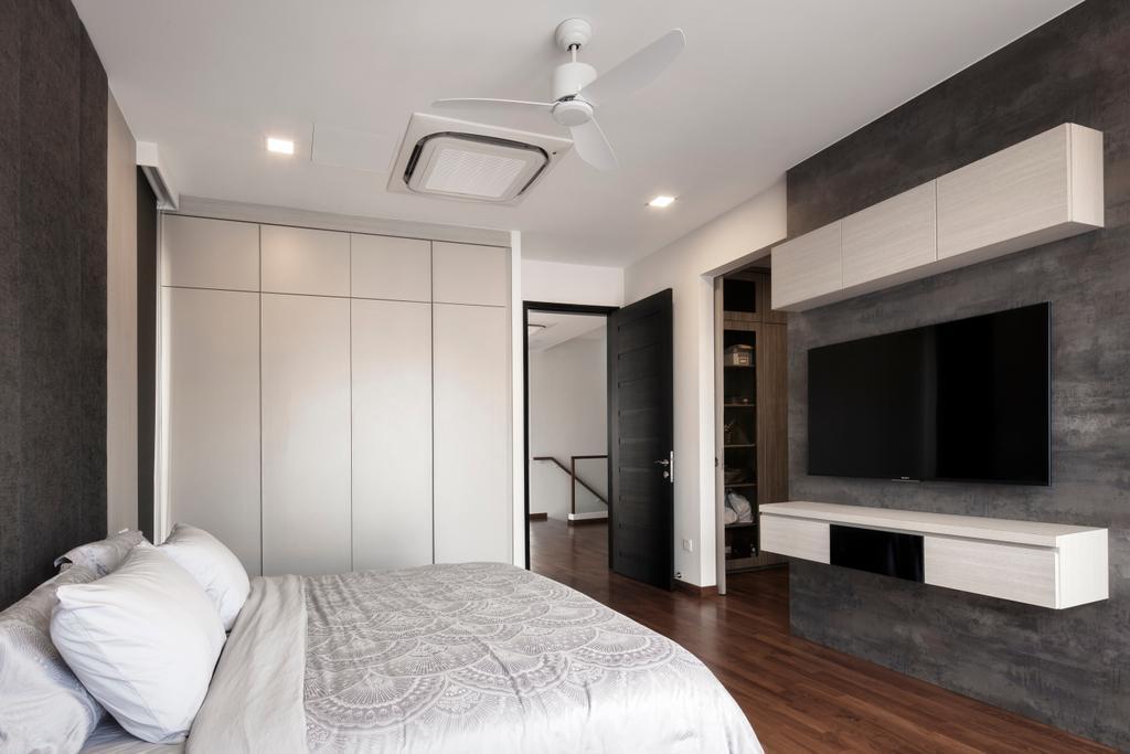 Contemporary, Landed, Bedroom, Jalan Jambu Mawar, Interior Designer, De Style Interior, Fireplace, Hearth, Flooring
