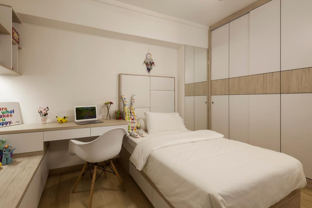 Contemporary, HDB, Bedroom, 204 Pasir Ris, Interior Designer, De Style Interior, Chair, Furniture, Sink, Indoors, Interior Design, Room, Bed