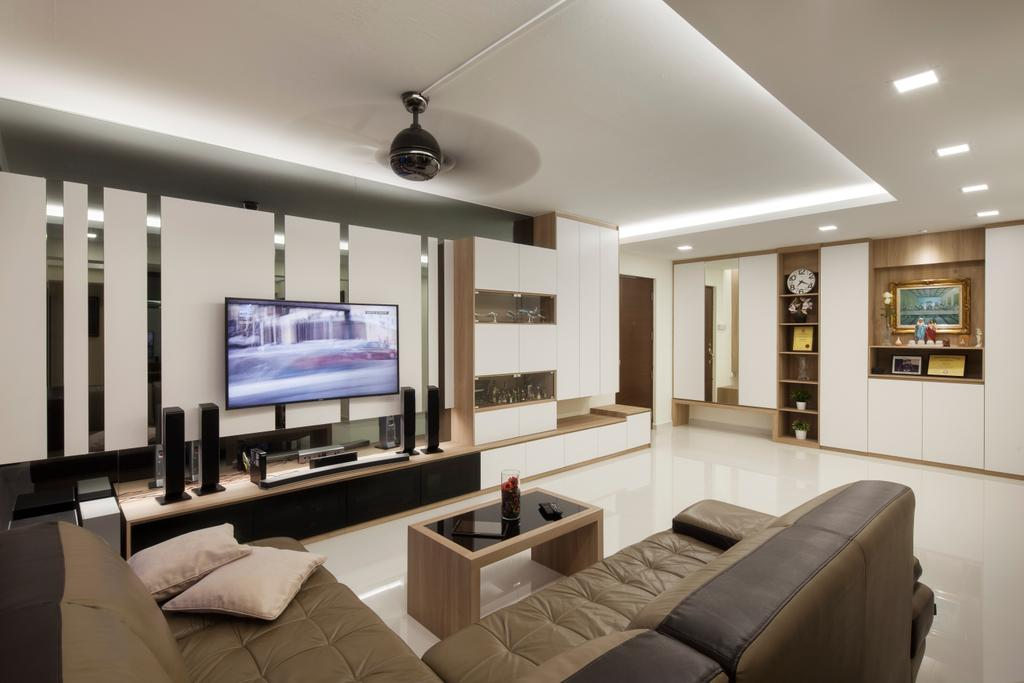 Contemporary, HDB, Living Room, 204 Pasir Ris, Interior Designer, De Style Interior, Indoors, Interior Design