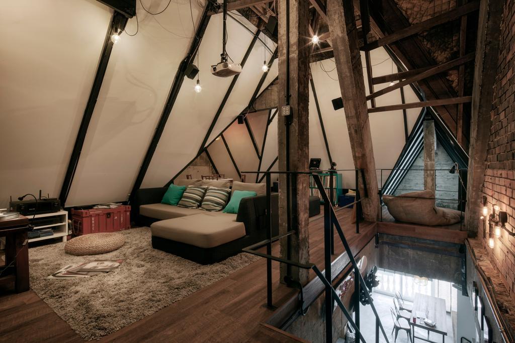 Industrial, HDB, Bedroom, East Coast Road, Interior Designer, De Style Interior, Triangle