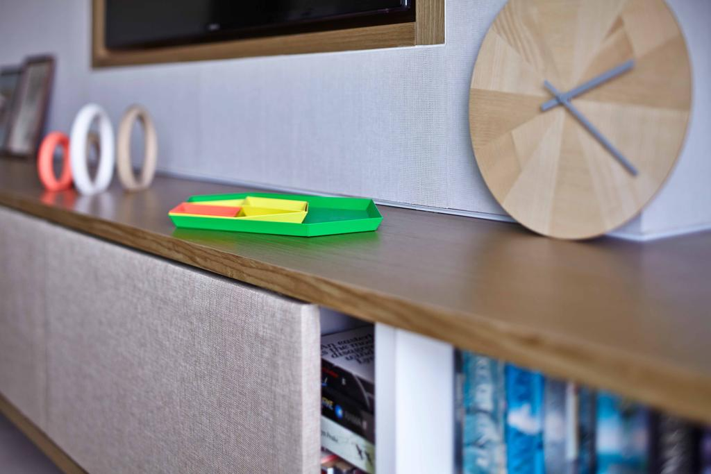 Contemporary, Condo, Costa Rhu, Architect, TOPOS Design Studio, Brown Shelf, Wooden Shelf, Small Clock, Clock Decor, Small Shelf
