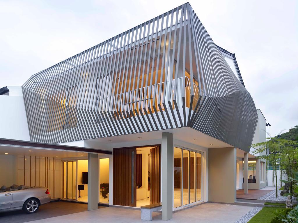 Modern, Landed, Mount Sinai, Architect, TOPOS Design Studio, Exterior View, Carpark Lot
