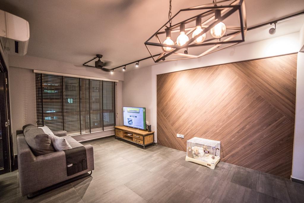Scandinavian, HDB, Living Room, Compassvale Crescent, Interior Designer, MET Interior, Couch, Furniture, Indoors, Interior Design