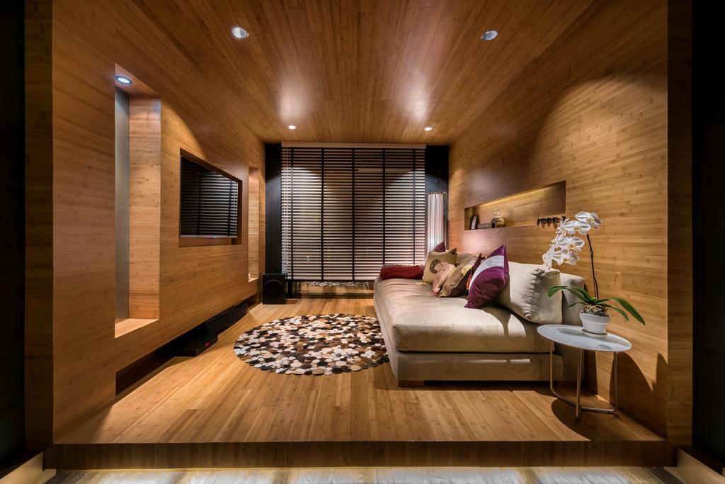 Eclectic, HDB, Bedroom, Pasir Ris, Interior Designer, akiHAUS, Hardwood, Stained Wood, Wood