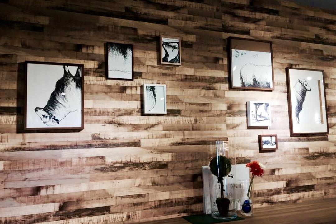 3 Bags Full Cafe @ Kota Damansara, MLA Design, Industrial, Commercial, Wood, Wood Wallpaper, Wallpaper, Brown, Wall Art, Wall Photo Frames