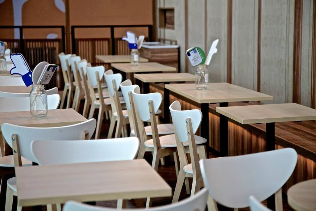 Madame Waffle @ IOI, Commercial, Interior Designer, MLA Design, Minimalistic, Dining Table, Dining Chair, Wood, Wooden Partition, Wooden Panelling, Chair, Furniture, Table, Dining Room, Indoors, Interior Design, Room
