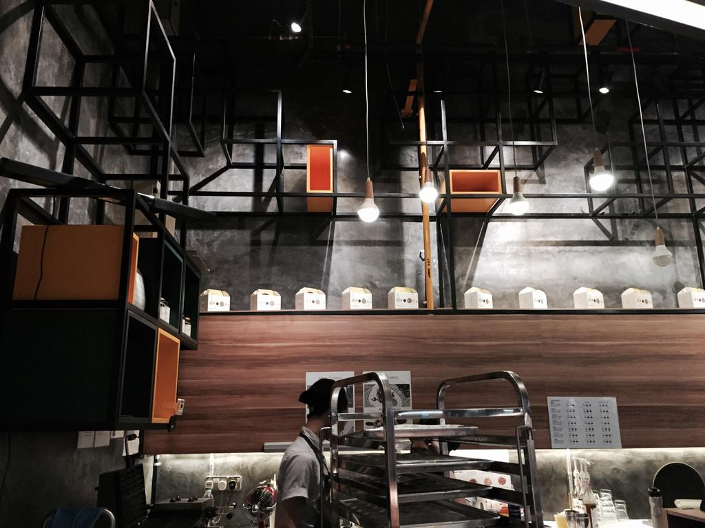 Madame Waffle @ Midvalley, Commercial, Interior Designer, MLA Design, Industrial, Cafe, Hanging Lamps, Pendant Lamps, Exposed Ceiling, Wooden Panelling, Wood, Track Lights, Chair, Furniture, Restaurant