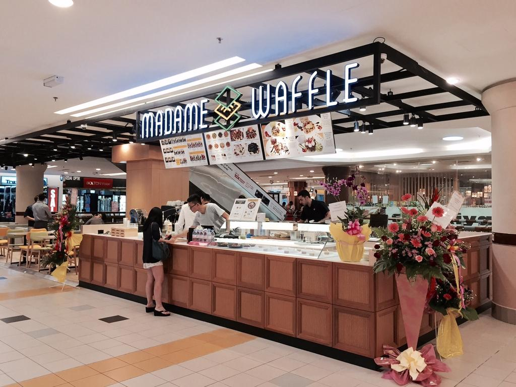 Madame Waffle @ One Utama, Commercial, Interior Designer, MLA Design, Scandinavian, Cafe, Countertop, Display Counter, Wooden Countertop, Track Lights, Cafe Counter, License, License Plate, Text, Flora, Jar, Plant, Potted Plant, Pottery, Vase