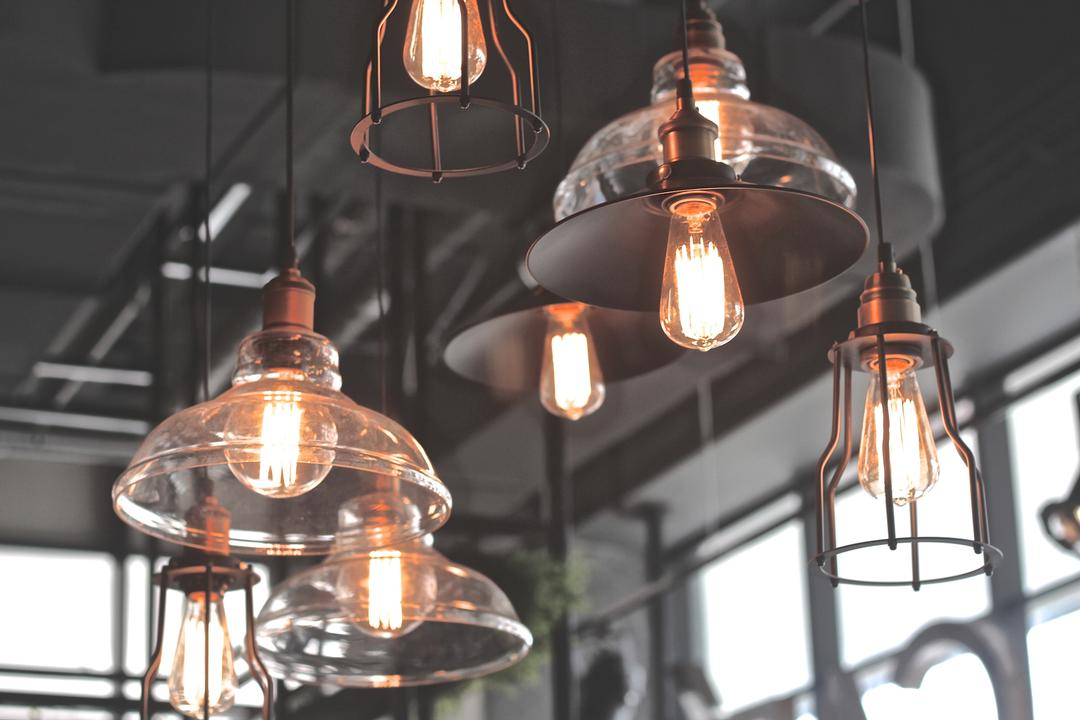 Renoma Cafe @ Ikon Connaught, MLA Design, Industrial, Commercial, Hanging Lamps, Pendant Lamps, Light Bulb Pendant Lamps, Glass, Candle, Light Fixture