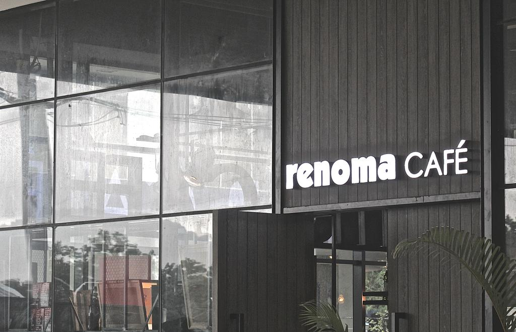 Renoma Cafe @ Ikon Connaught, Commercial, Interior Designer, MLA Design, Industrial, Wooden Panelling, Dark Wood, Cafe, Glass, Glass Partition, Grey, Grey Tones