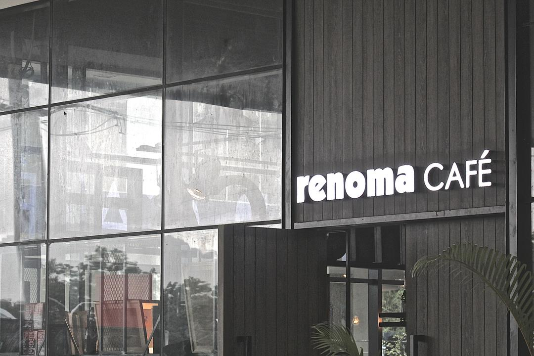Renoma Cafe @ Ikon Connaught, MLA Design, Industrial, Commercial, Wooden Panelling, Dark Wood, Cafe, Glass, Glass Partition, Grey, Grey Tones