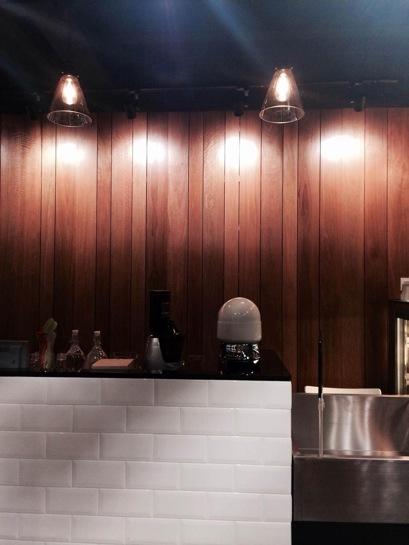 The Fruits Shop @ SS2, Petaling Jaya, Commercial, Interior Designer, MLA Design, Industrial, Wooden Panelling, Pendant Lamps, Hanging Lamps, Track Lights, Countertop, Brick Countertops, Solid Countertops, Bottle, Clothing, Hardhat, Helmet