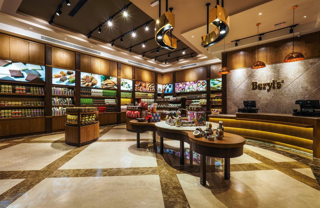 Beryl's Chocolate at Design Village, Commercial, Interior Designer, Archiplan Interior Design, Modern, Industrial, Grocery Store, Shop, Light Fixture, Food, Food Court, Restaurant