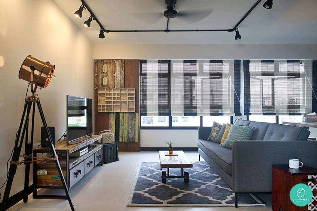 reen-and-Lush-Industrial-Living-Room