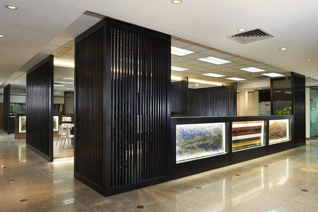 Sungei Kadut, Spire Id, Modern, Commercial, Recessed Lighting, Recessed Lights, Black Partition, Partition Wall, Door, Sliding Door, Flooring
