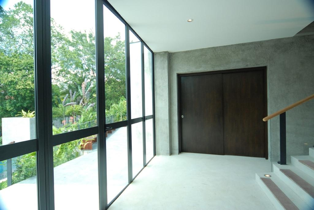 Modern, Landed, Belmont House, Architect, Lekker Architects, Glass Walls, Stairway, Sink