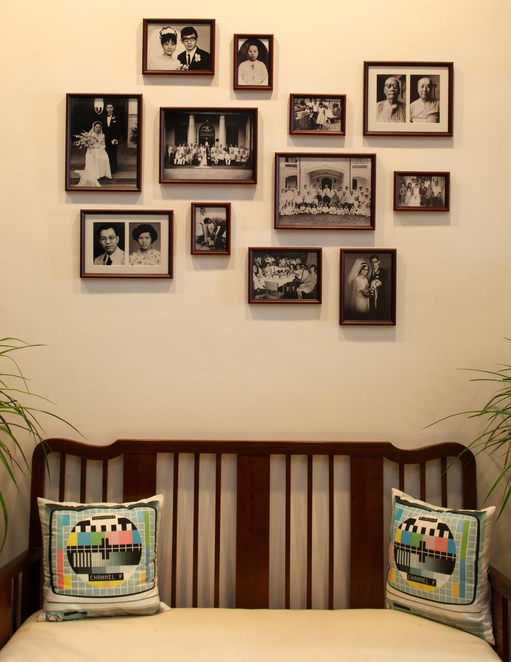 Traditional, Landed, Emerald House, Architect, Lekker Architects, Wall Portrait, Cushions, Colourful Cushions, Colorful Cushions, Cushioned Seats, Wooden Chair, Flora, Jar, Plant, Potted Plant, Pottery, Vase, Art, Wall, Chair, Furniture, Molding, Painting, Art Gallery