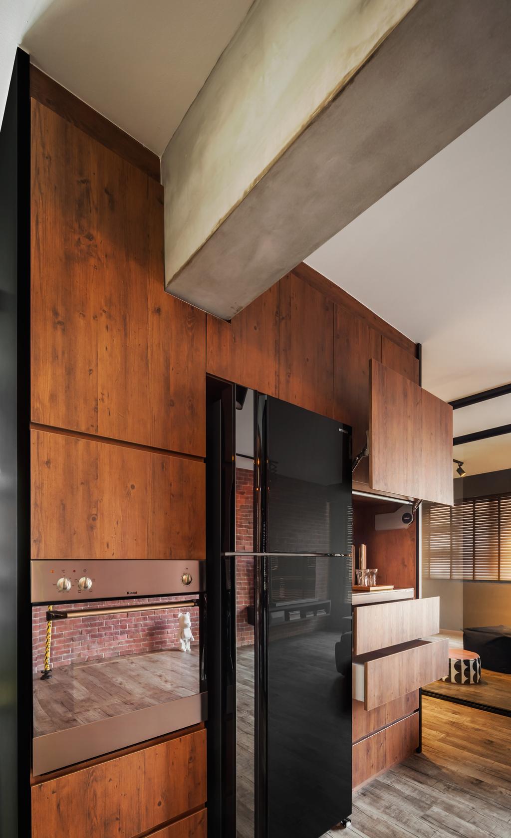 Industrial, HDB, Kitchen, Compassvale, Interior Designer, IN-EXPAT