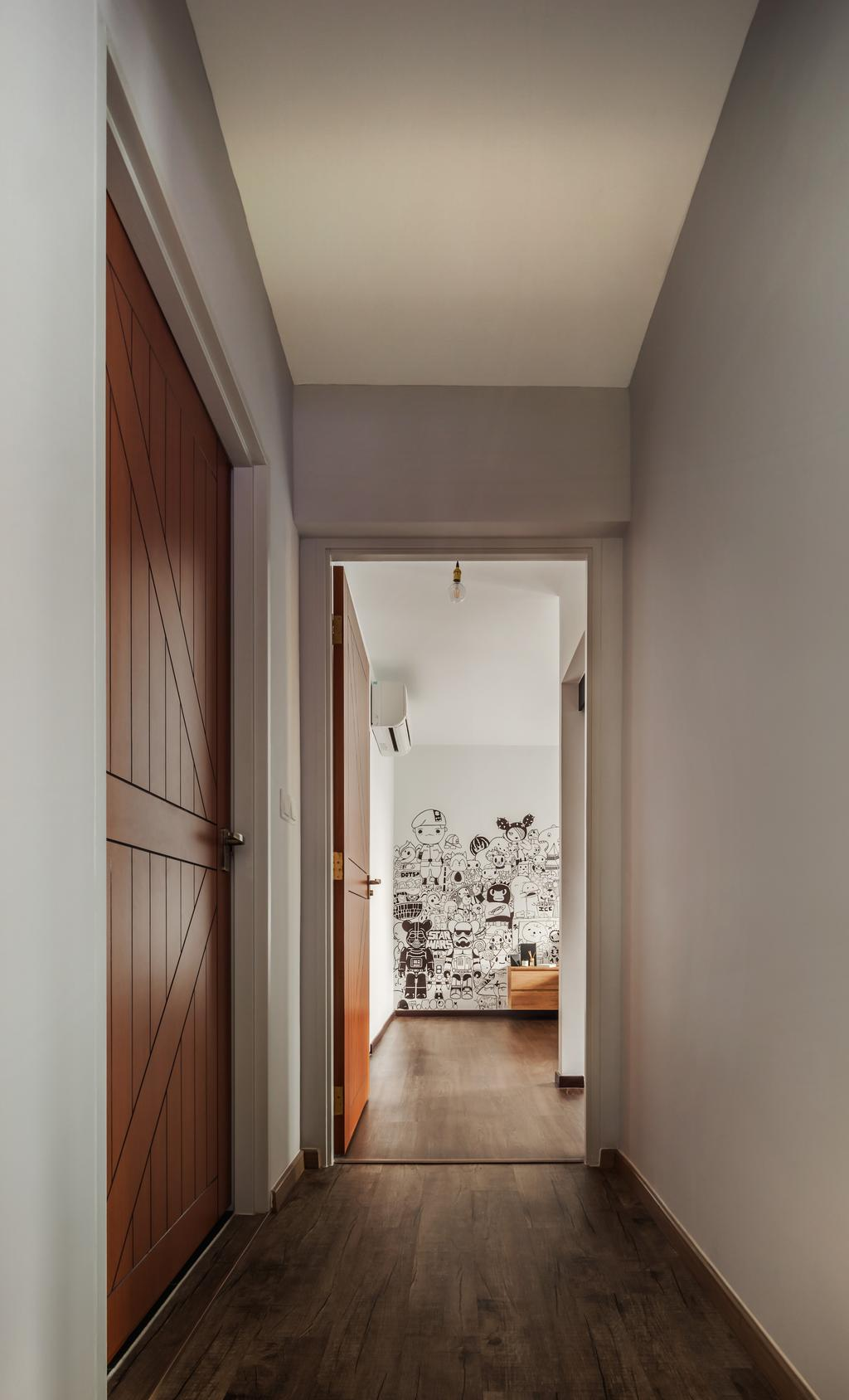 Industrial, HDB, Bathroom, Compassvale, Interior Designer, IN-EXPAT, Curtain, Home Decor, Shower Curtain, Art, Doodle, Drawing