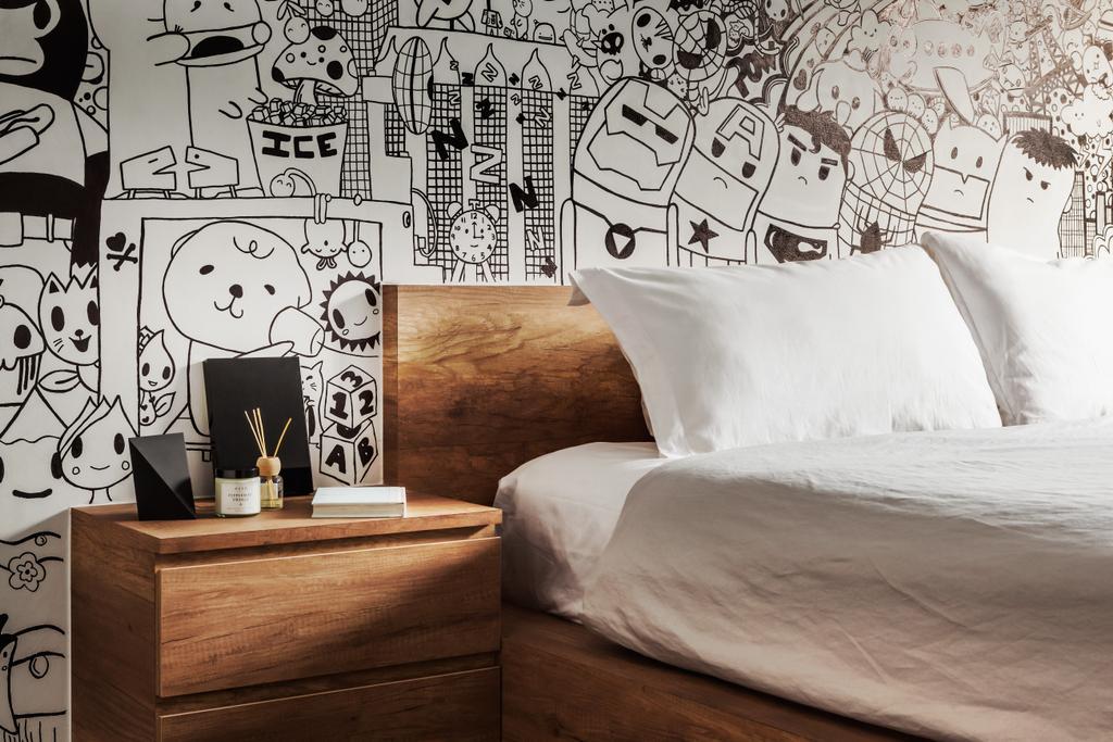Industrial, HDB, Bedroom, Compassvale, Interior Designer, IN-EXPAT