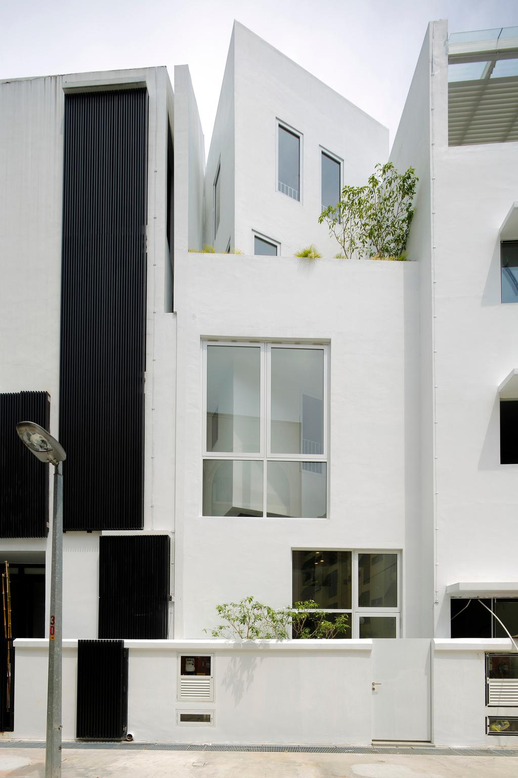 Gallery House, Commercial, Architect, Lekker Architects, Modern, Exterior View, Monochrome Walls