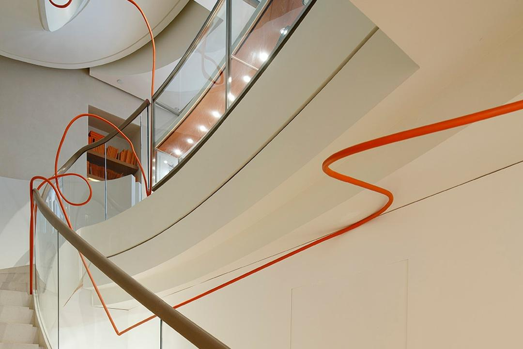 Hermes Petit H, Lekker Architects, Contemporary, Commercial, Glass Railing, Stairway, Banister, Handrail, Staircase