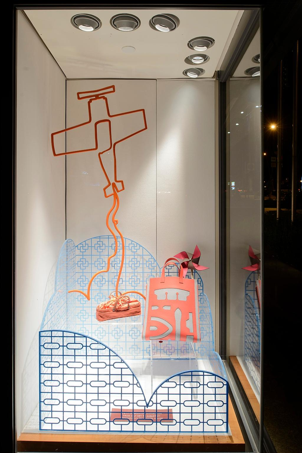 Hermes Petit H, Commercial, Architect, Lekker Architects, Contemporary, Recessed Lighting, Recessed Lights, Display Showcase, Paper