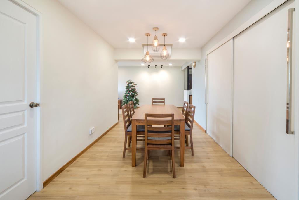 Modern, HDB, Living Room, Dover East, Interior Designer, Cozy Ideas Interior Design, Scandinavian, Dining Table, Furniture, Table, Light Fixture, Dining Room, Indoors, Interior Design, Room, Flooring, Floor
