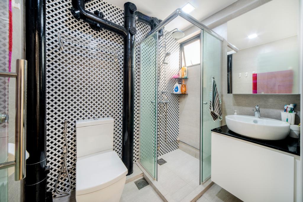 Modern, HDB, Bathroom, Dover East, Interior Designer, Cozy Ideas Interior Design, Scandinavian, Sink, Indoors, Interior Design, Room