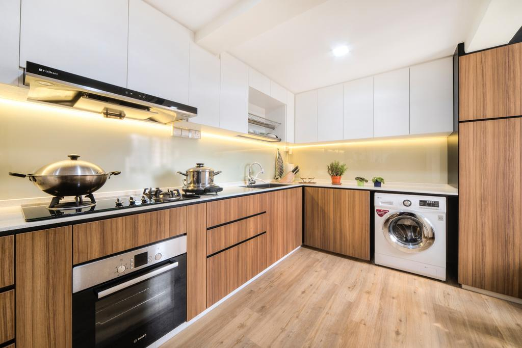 Modern, HDB, Kitchen, Dover East, Interior Designer, Cozy Ideas Interior Design, Scandinavian, Indoors, Interior Design, Room