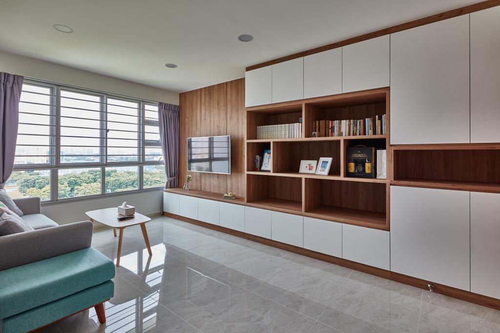 Modern, HDB, Living Room, Tenteram Peak, Interior Designer, Voila, Scandinavian, Furniture, Sideboard, Dining Table, Table, Chair, Indoors, Interior Design
