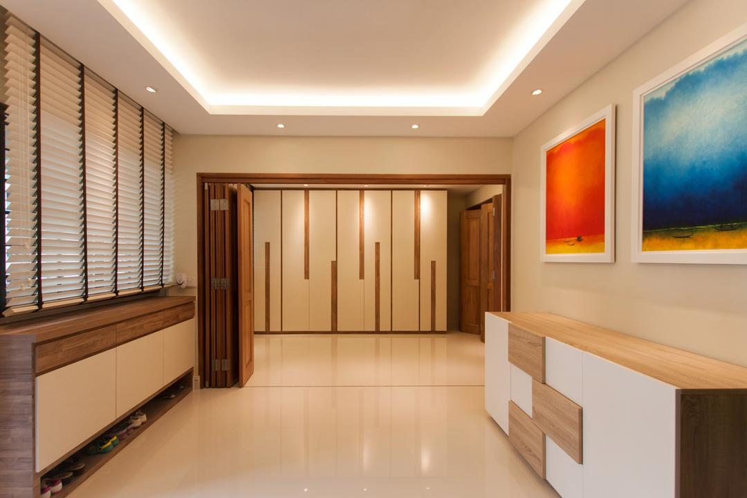 Ang Mo Kio (Block 234), Space Atelier, Modern, HDB, Foldable Doors, Recessed Lighting, Recessed Lights, False Ceiling, Concealed Lighting, Concealed Lights, Venetian Blinds, Cabinets, Wall Portraits