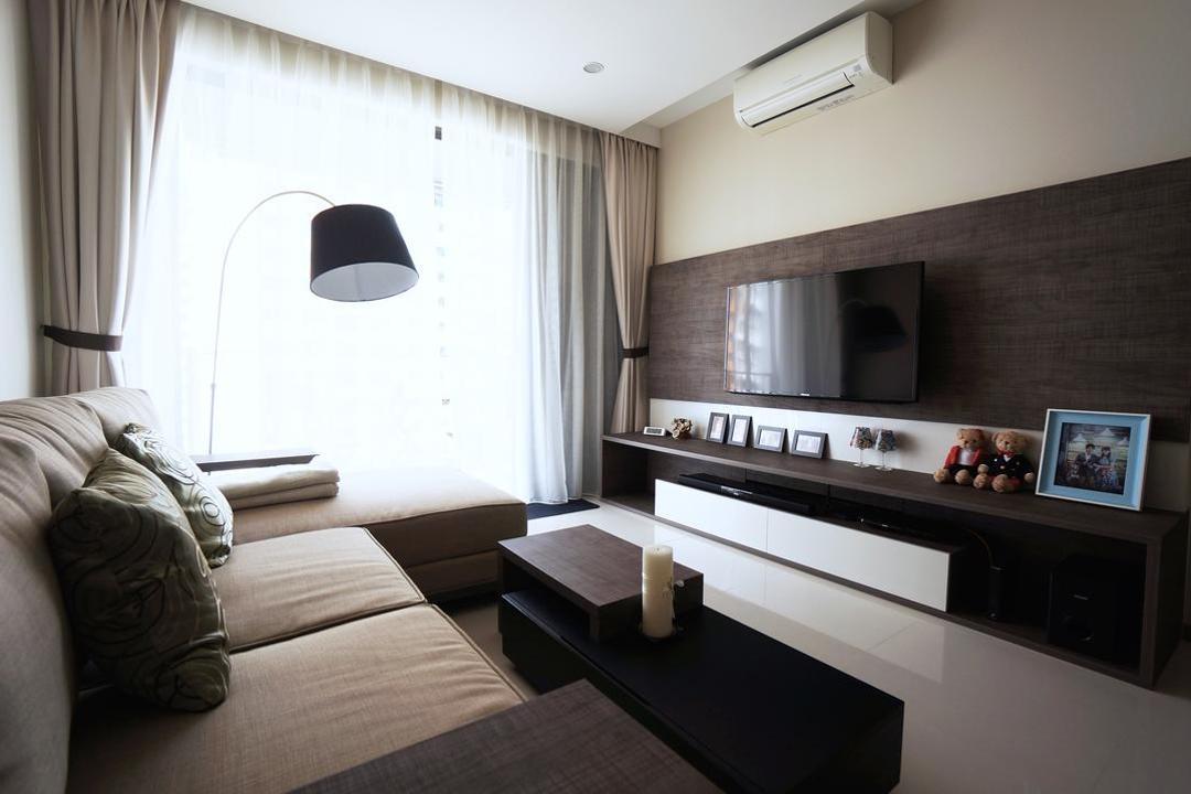 Blossom Residences Living Room Interior Design 1