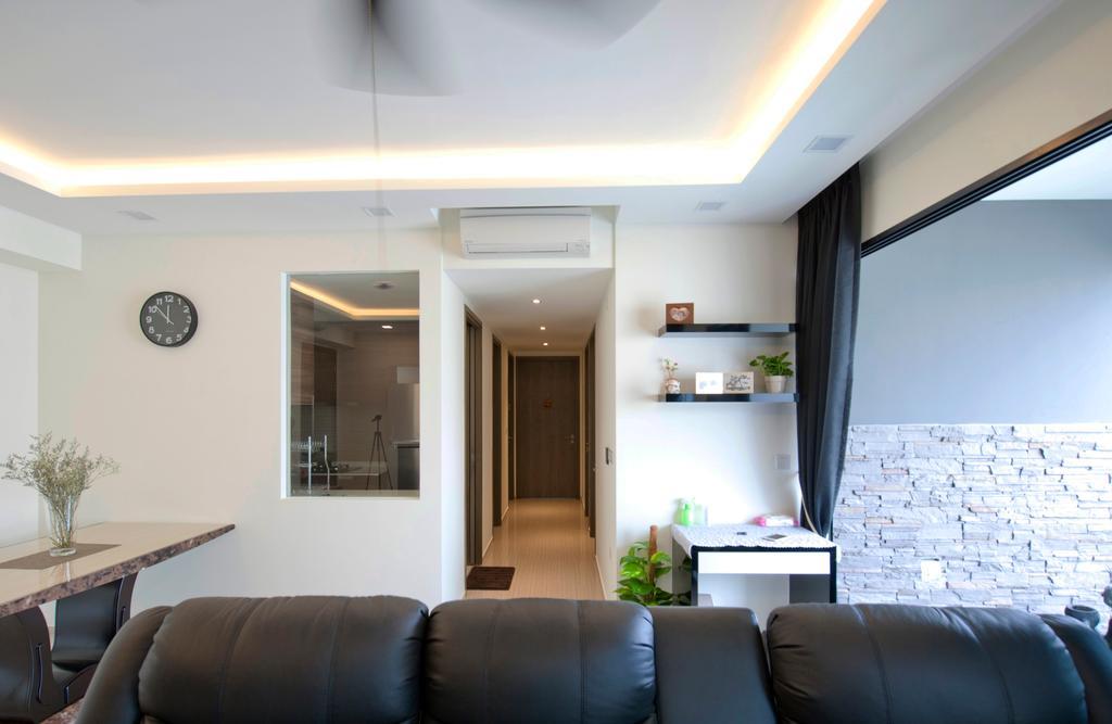 Contemporary, HDB, Living Room, Fernvale Close (Block 3), Interior Designer, Omni Design