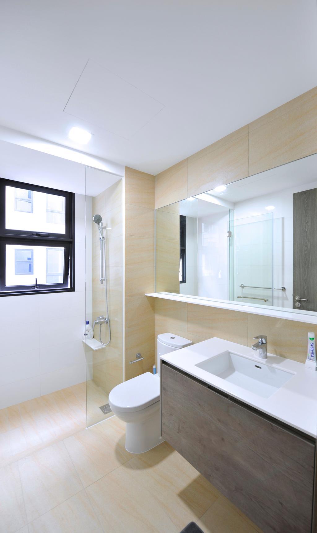 Contemporary, HDB, Bathroom, Fernvale Close (Block 3), Interior Designer, Omni Design