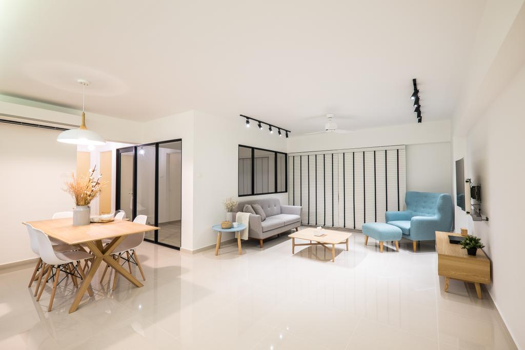 Minimalistic, HDB, Living Room, Fernvale Road (Block 407B), Interior Designer, Nitty Gritty Interior