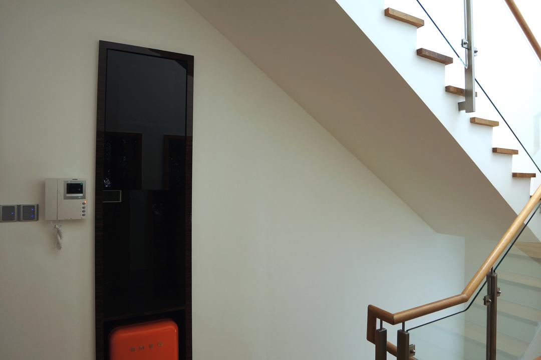 Paterson Residences, Space Atelier, Modern, Condo, Stairway, Wooden Steps, Glass Railing, Banister, Handrail, Staircase